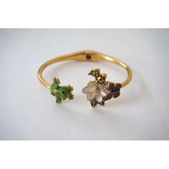 56b67fbf25125 Kate Spade NY Frog flower bee Cuff